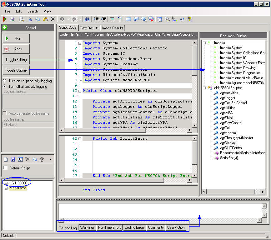 How to Use the Scripting Tool