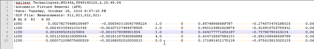 User Calibration File Format